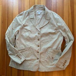 Talbots khaki blazer size 18